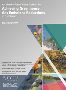 An Examination of Policy Options for Achieving Greenhouse Gas Emissions Reduction in New Jersey